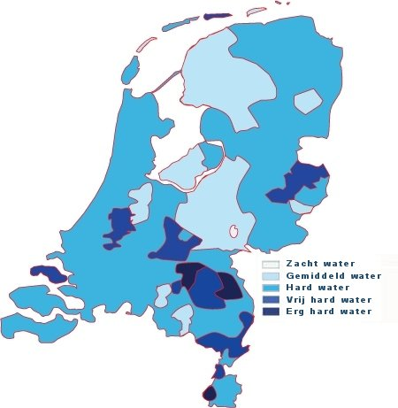 Waterhardheden in Nederland